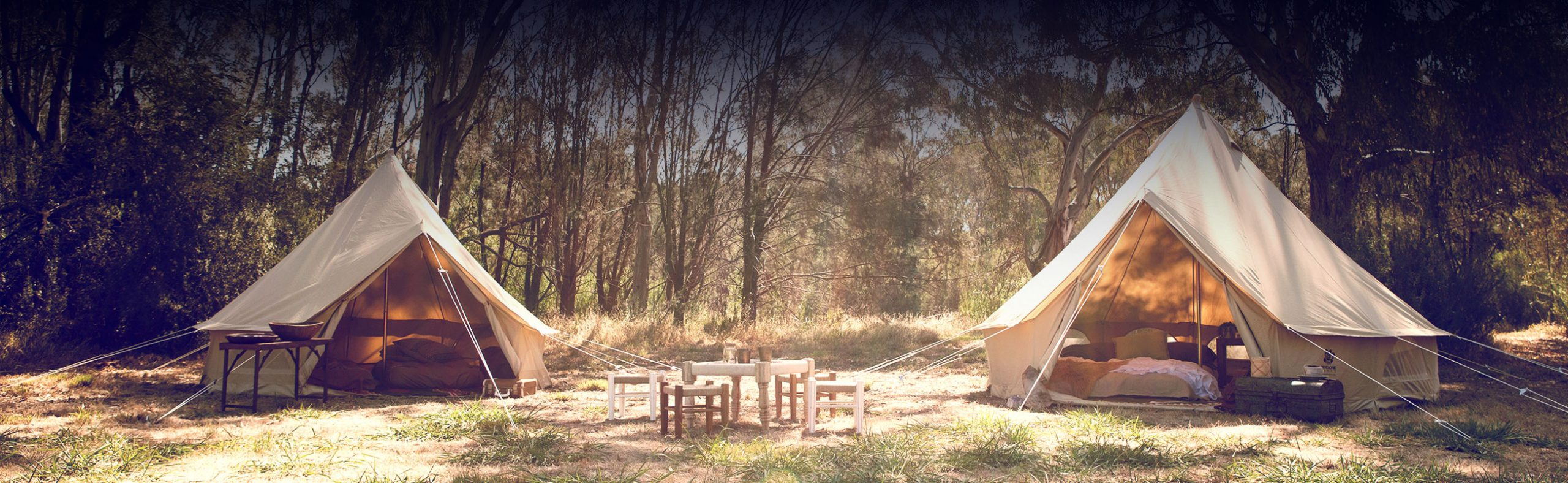 Psyclone Tents - Campsite Setting High Quality Bell Tents